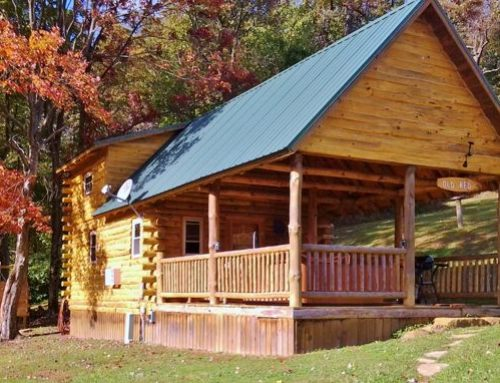 Old Red: One of Diamond Lake Cabins Great Ohio Log Cabin